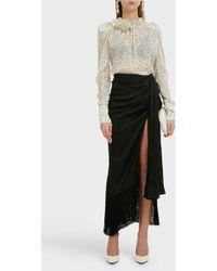 Magda Butrym - Asti Wrap Silk Skirt - Lyst