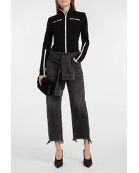 Alexander Wang - Cropped Frayed Straight-leg Jeans - Lyst