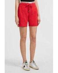 Zoe Karssen - Romantix Printed Cotton-blend Shorts, Size M, Women, Red - Lyst
