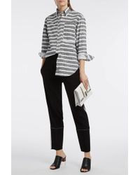 Proenza Schouler - Striped Cotton-poplin Shirt, Size Xs, Women, Black - Lyst