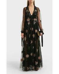 Elie Saab - Embroidered Tulle Gown - Lyst