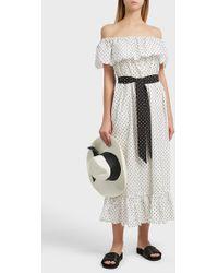Marysia Swim - Victoria Polka Dot Cotton Dress - Lyst