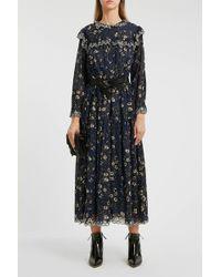 Étoile Isabel Marant - Eina Embroidered Floral-print Cotton Midi Dress - Lyst