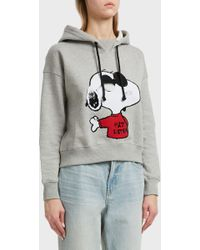 Paul & Joe - Snoop Printed Cotton Hoodie, Size 3, Women, Grey - Lyst