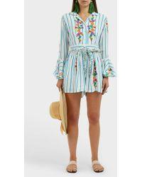 All Things Mochi - Marita Striped Jumpsuit - Lyst