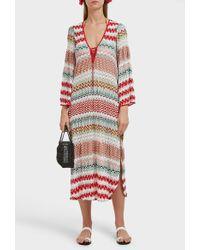 Missoni - Donna Lace-up Crochet-knit Midi Kaftan - Lyst