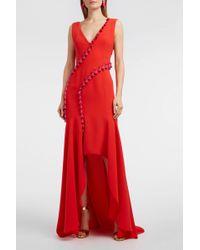 Galvan London - Cuzco Tassel Embellished V Neck Gown - Lyst