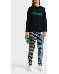 Alberta Ferretti - Alitalia Appliquéd Cotton Sweatshirt - Lyst