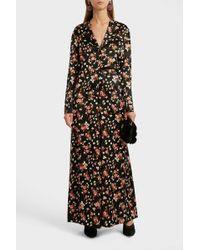 A.L.C. - Leomie Floral-print Stretch-silk Blouse, Size Us2, Women, Black - Lyst