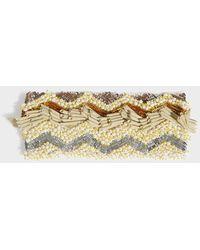 Missoni - Beaded Headband, Size Os, Women, Yellow - Lyst
