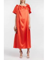 Roksanda | Emore Ruffled Silk-satin Dress | Lyst