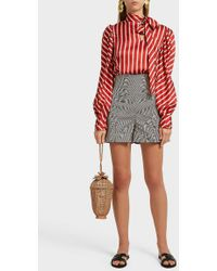 Silvia Tcherassi - Sellian Striped Stretch-cotton Shorts - Lyst