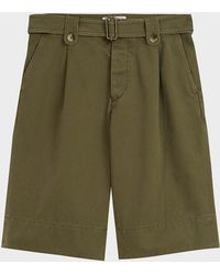 JW Anderson - Washed Belted Cotton Shorts - Lyst