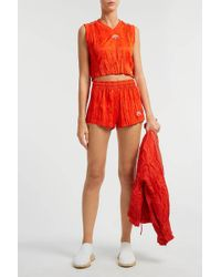 Alexander Wang - Crinkled-jersey Shorts, Size De40, Women - Lyst