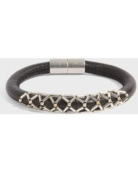 Isabel Marant - Forever Leather Bracelet, Size 1, Women, Black - Lyst