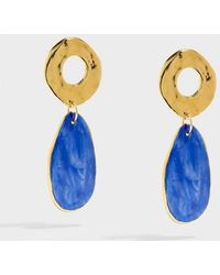 Sonia Boyajian - Gold-tone Ceramic Earrings - Lyst