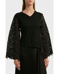 OSMAN - Eden Lace Jumper, Size S, Women, Black - Lyst