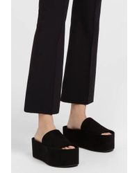 Neous - Notylia Suede Platform Sandals, Size It36, Women, Black - Lyst