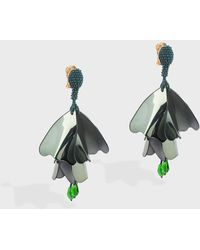 Oscar de la Renta - Large Impatiens Earrings - Lyst