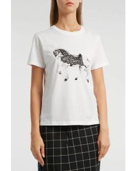 JW Anderson - Printed Cotton T-shirt - Lyst