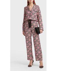 Victoria, Victoria Beckham - Printed Pyjama Shirt, Uk12 - Lyst
