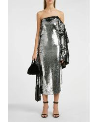 Paula Knorr - Asymmetric One-sleeved Sequined Midi Dress - Lyst