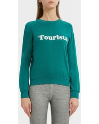 Wildfox - Tourista Junior Sweatshirt, Size Xs, Women, Green - Lyst