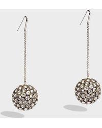 Isabel Marant - Life On Mars Silver-tone Crystal Earrings - Lyst