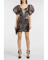 Oxalis floral-print puff-sleeved dress Isabel Marant kaAohcX0qw