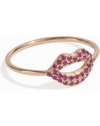 Sydney Evan - Lips Ring, Size Us6, Women, Metallic - Lyst