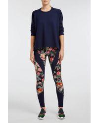 Isabel Marant - Tilda Floral-print Stretch-jersey Leggings - Lyst