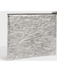 Isabel Marant - Netah Metallic Leather Pouch - Lyst