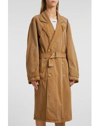 Yeezy - Cotton-blend Trench Coat, Size M, Women, Beige - Lyst