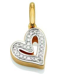 Monica Vinader - Gold Vermeil Alphabet Heart Pendant - Lyst