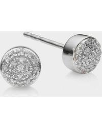 Monica Vinader - Fiji Mini Button Stud Earrings - Lyst