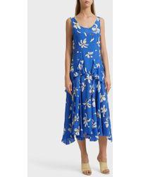 Isa Arfen - Floral Print Dress, Size Uk10, Women, Blue - Lyst