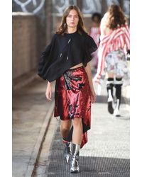 Marques'Almeida - Asymmetric Sequined Tulle Wrap Skirt - Lyst