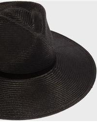 Janessa Leone - Helena Fedora Hat, Size M, Women, Black - Lyst