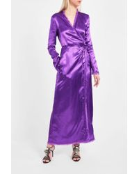 Attico | Raquel Silk Robe Dress | Lyst