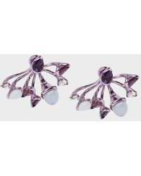 Fernando Jorge - Lilac-coated 18-karat Gold Diamond, Amethyst And Chalcedony Earrings - Lyst