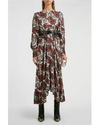 Isabel Marant - Jorja Silk-blend Dress - Lyst