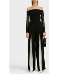 Roland Mouret - Burton Inverted-pleat Wool Trouser - Lyst