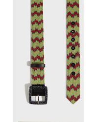 Missoni - Zigzag Lurex Belt, Size Eu80, Women, Green - Lyst