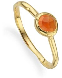 Monica Vinader - Small Siren Stacking Ring - Lyst