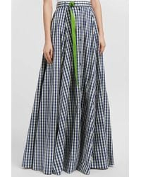 Adam Selman - Gingham Cotton-poplin Skirt - Lyst
