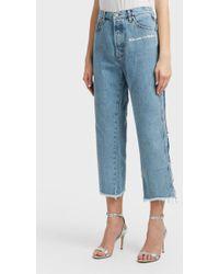 Natasha Zinko - Cropped Jeans, Size Fr36, Women, Blue - Lyst