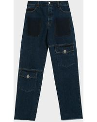 JW Anderson - Button Fastening Multi Pocket Jeans - Lyst