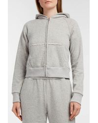 Simon Miller - Burke Cropped Cotton-terry Hooded Sweatshirt, 1 - Lyst