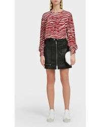 Étoile Isabel Marant - Alynna Leather Mini Skirt - Lyst