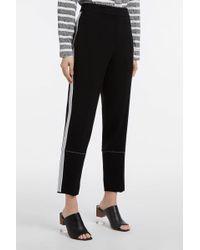 Proenza Schouler - Crepe Wide-leg Trousers, Size Us8, Women, Black - Lyst